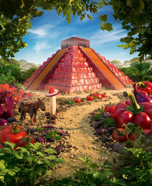 The Mayan Pepper Temple  600 х 730