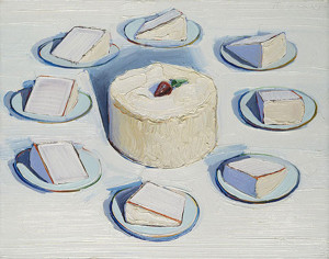 Around the Cake by Wayne Thiebaud Вокруг торта 600 х 473