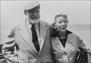 Ernest Hemingway with his wife Mary 700 х 487