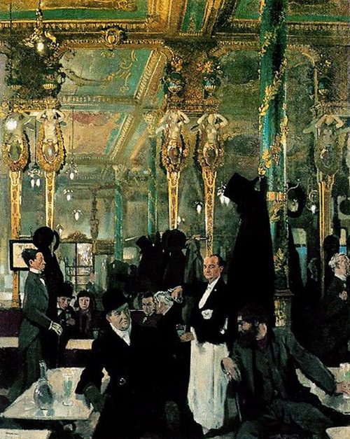William Orpen The Café Royal London 1912 500 х 627