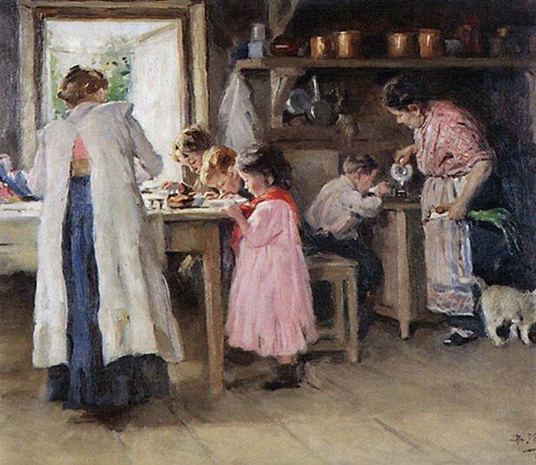 makovskiy Маковский В.Е. На кухне 600 х 521