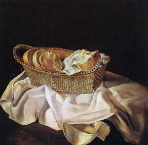 корзина с хлебом Дали 700 х 684