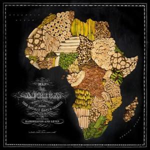 Аппетитные карты  Африка 800 х 800