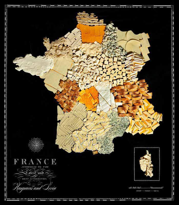Аппетитные карты Франция  699 х 800