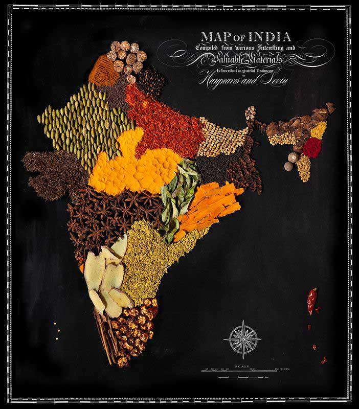 Аппетитные карты  Индия 702 х 800
