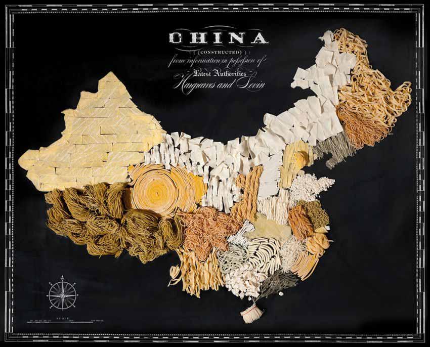 Аппетитные карты Китай  850 х 686