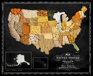 Аппетитные карты США  700 х 568