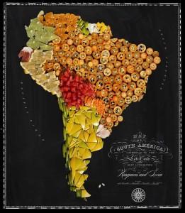 Аппетитные карты Южная Америка  697 х 800