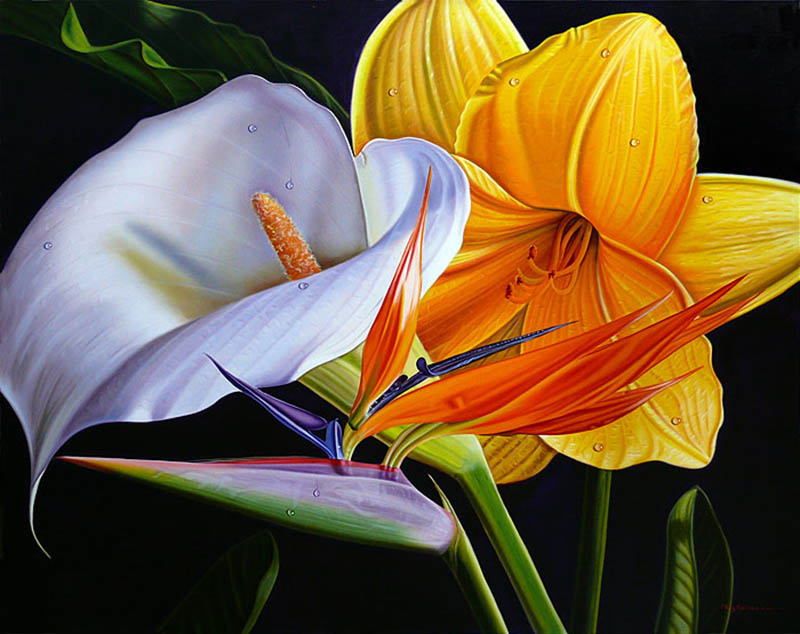 Эллери Гутьеррез Цветы 80 х 634