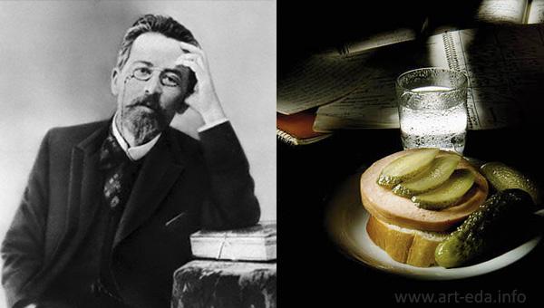 закуски от писателей Чехов  600 х 340