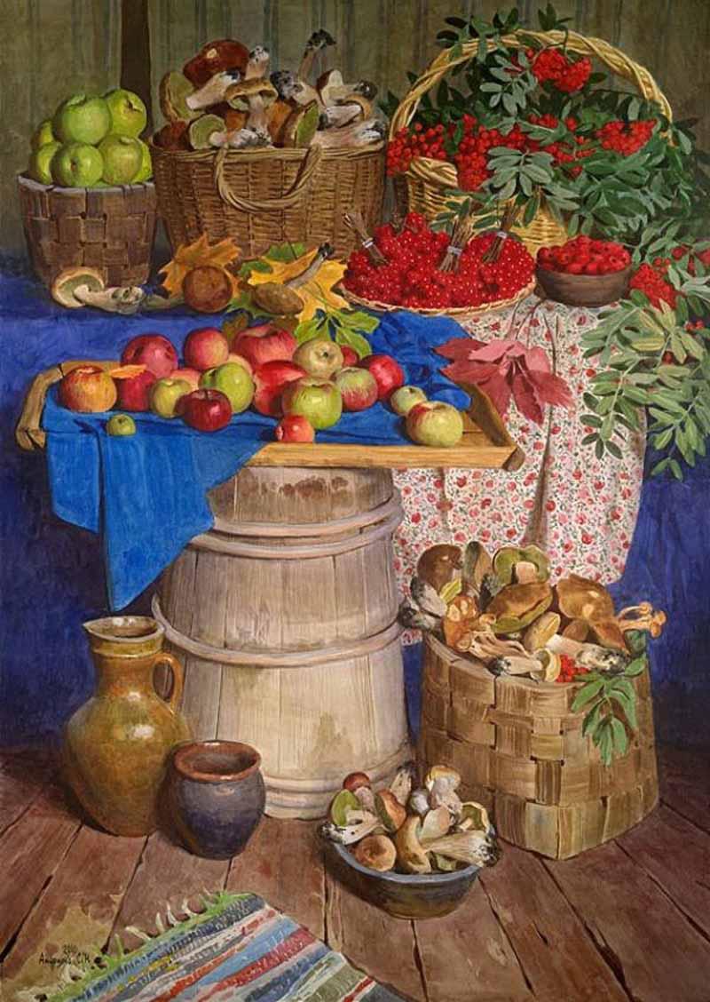 Сергей Андрияка Осенний натюрморт 2010  800 х 1128