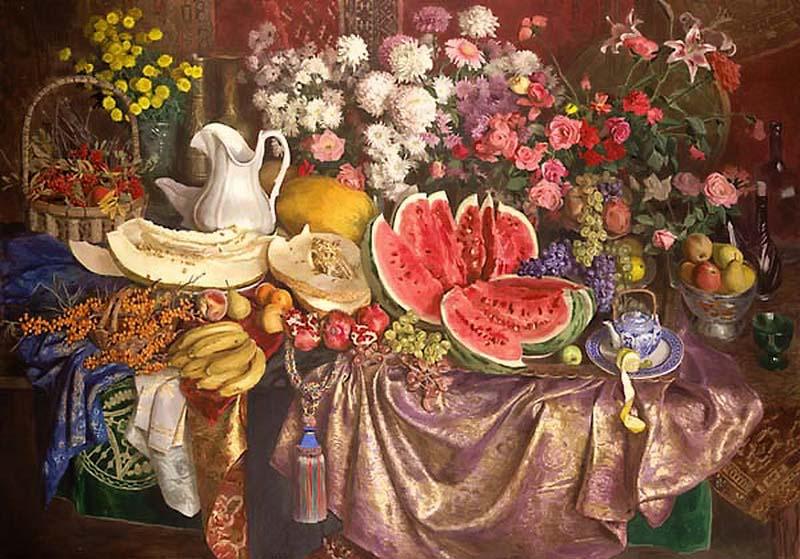 Сергей Андрияка Цветы и фрукты,  1995  800 х 559