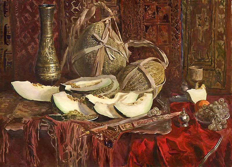 Сергей Андрияка  Восточный натюрморт,1991 800 х 575