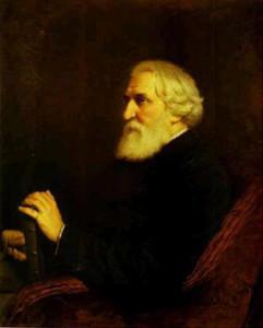 Тургенев портрет Перова 1872 450 х 560