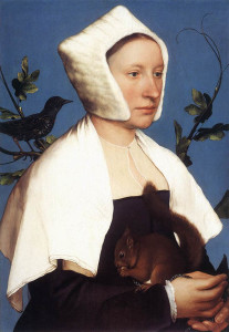 Портрет дамы с белкой, Ганс Гольдбейн 600 х 869