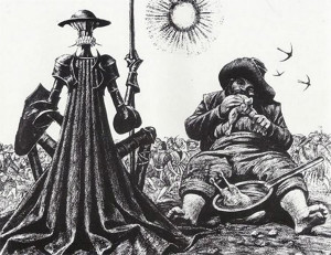 иллюстрация Саввы Бродского к Дон Кихоту 600 х 462