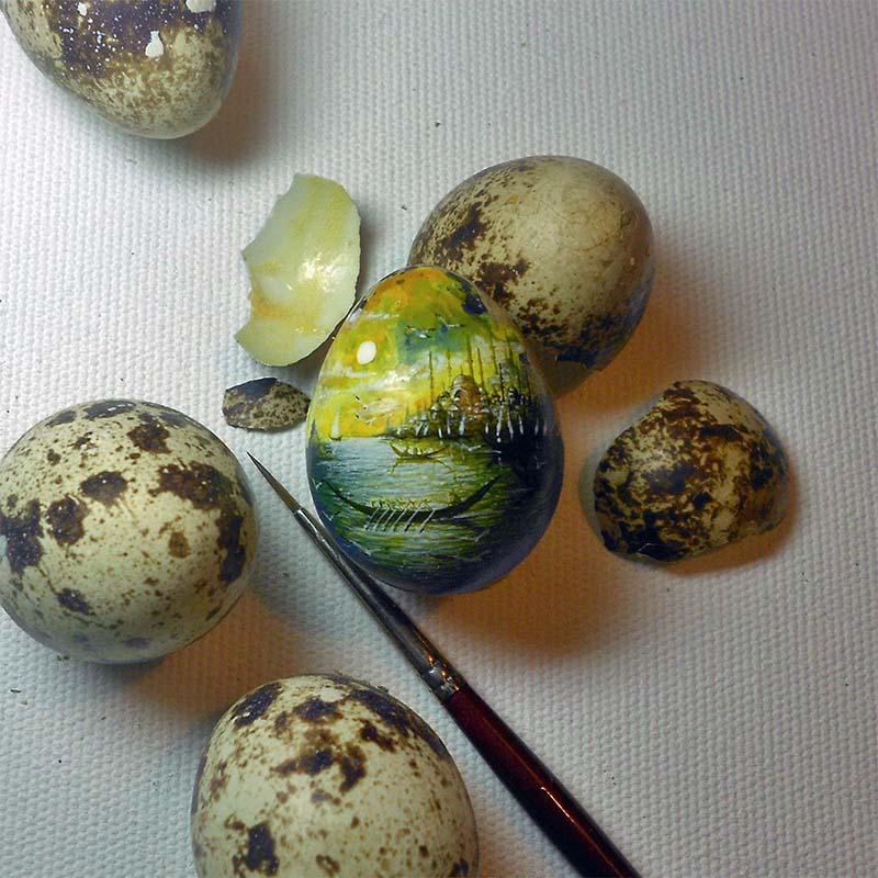 миниатюра на перепелиных яйцах  800 х 800