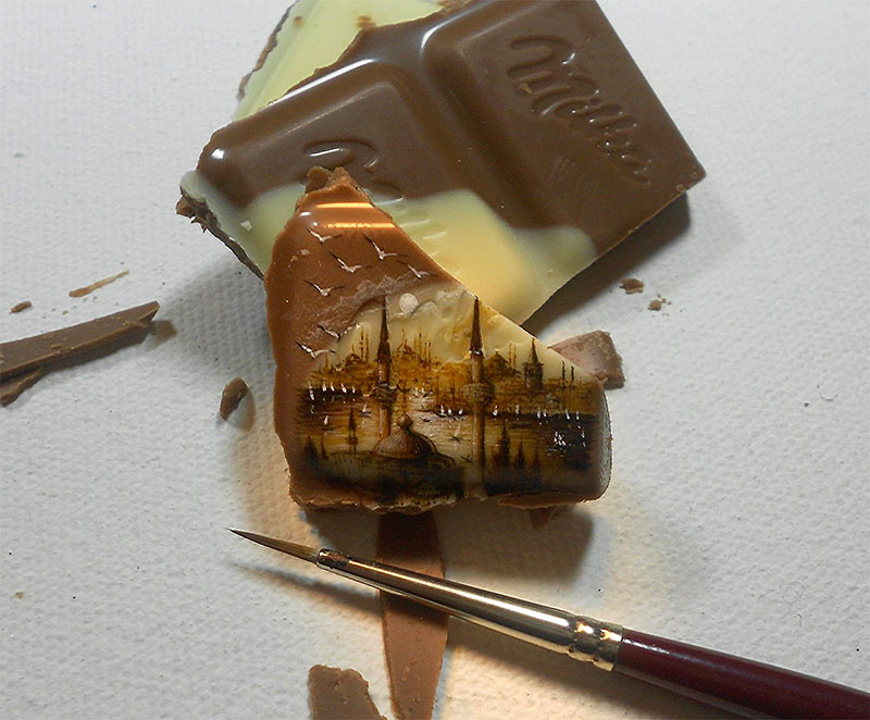 пейзаж на шоколаде 800 х 662