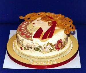 торт в стиле Альфонса Мухи 800 х 680