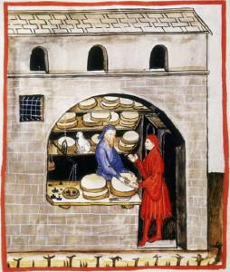 Продавец сыра Средневековая Европа  450 х 531