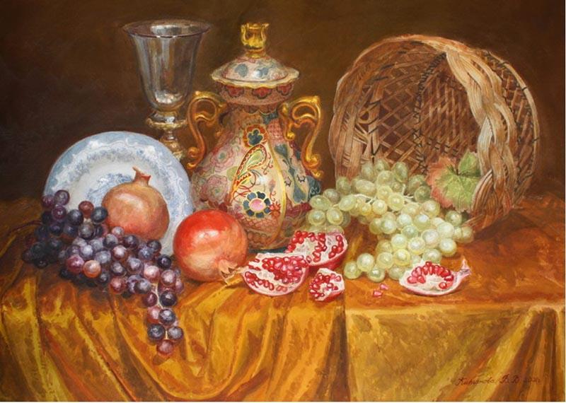 Виктория Кирьянова Фрукты с китайской вазой, 2006 800 х 570