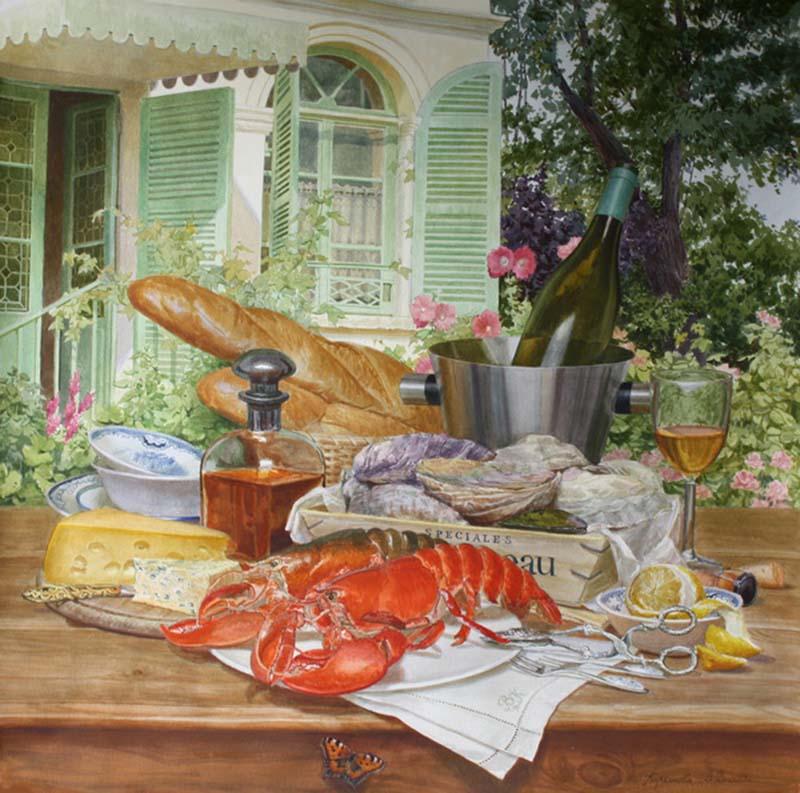 Виктория Кирьянова Обед в саду, 2013 800 х 793