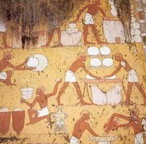производство сыра в Древнем Египте  456 х 452