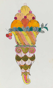 Andy Warhol, Ice Cream Dessert ,1959 600 х 1001