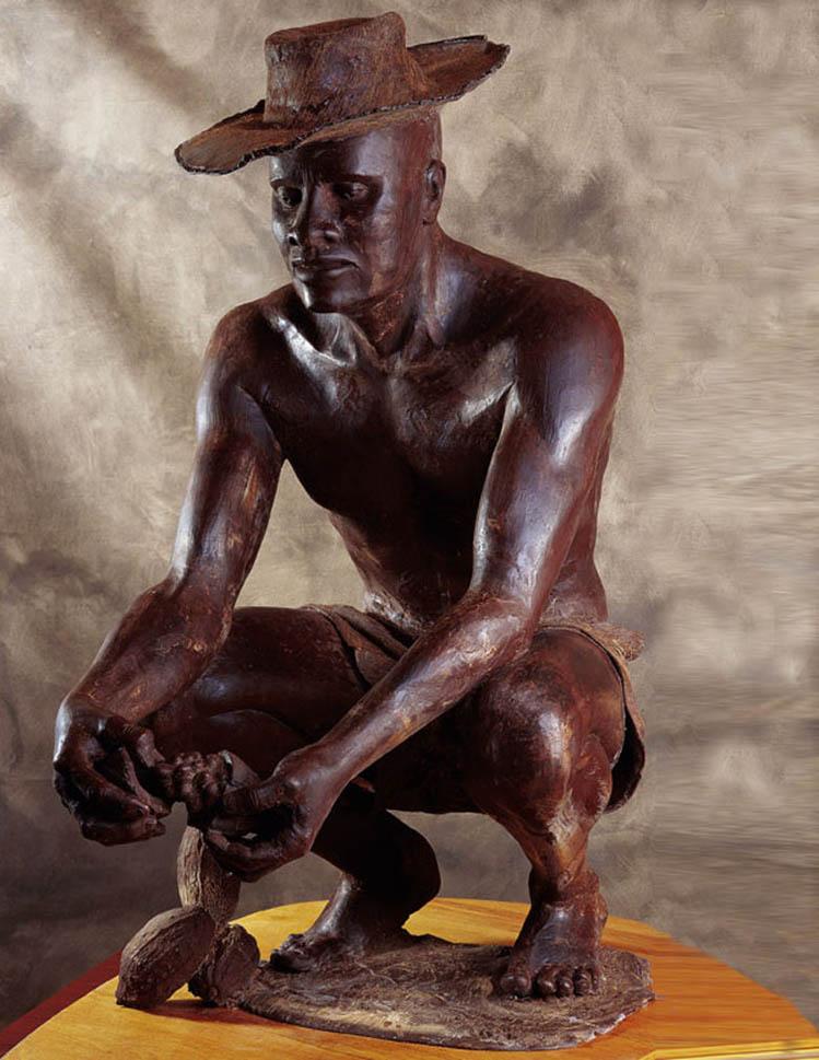Гарольд, шоколадная скульптура Патрика Роджера 749 х 969