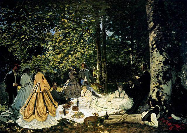 Клод Моне Завтрак на траве  640 х 456