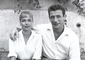 Симона Синьоре и Ив Монтан в La Colombe d'Or 650 х 456