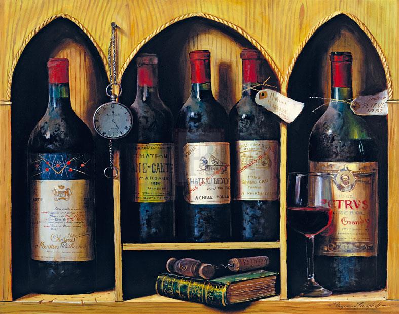 Вино, с карманными часами и книгой 787 х 618