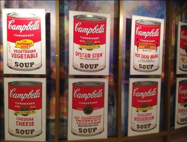 банки томатного супа Кемпбелл_Энди Уорхол