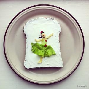 The Art Toast Project _фуд-арт_Дега_Ida Skivenes