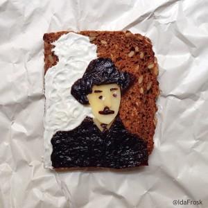 The Art Toast Project _фуд арт_Фернандо Пессоа _Ida Skivenes