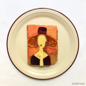 The Art Toast Project _фуд-арт амедео модильяни_ида скивенез_
