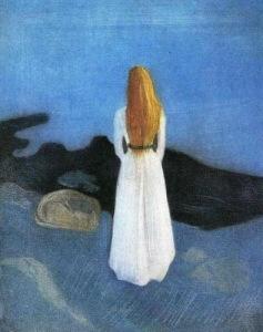 """E.Munch """"Girl On A Shore""""_Molodaya_zhenschina_na_beregu_1896"""