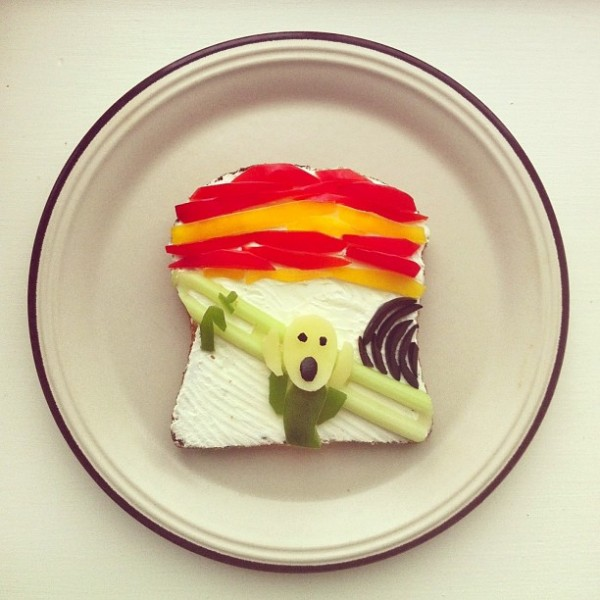 The Art Toast Project _фуд арт_Mунк_Ida Skivenes
