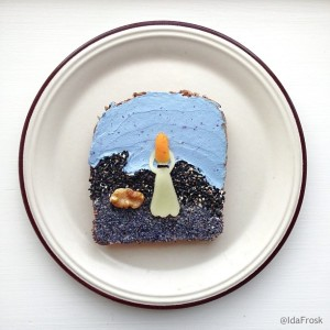 The Art Toast Project_фуд арт_Мунк_Ida Skivenes