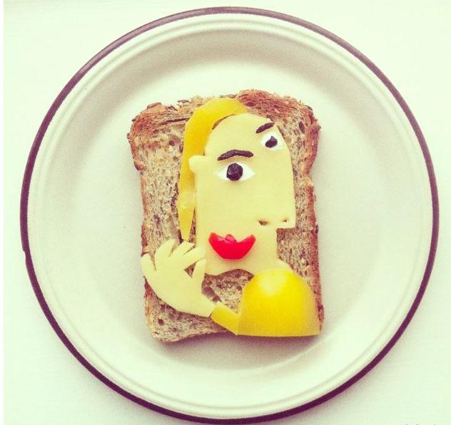 The Art Toast Project _фуд арт_Пикассо_Ida Skivenes