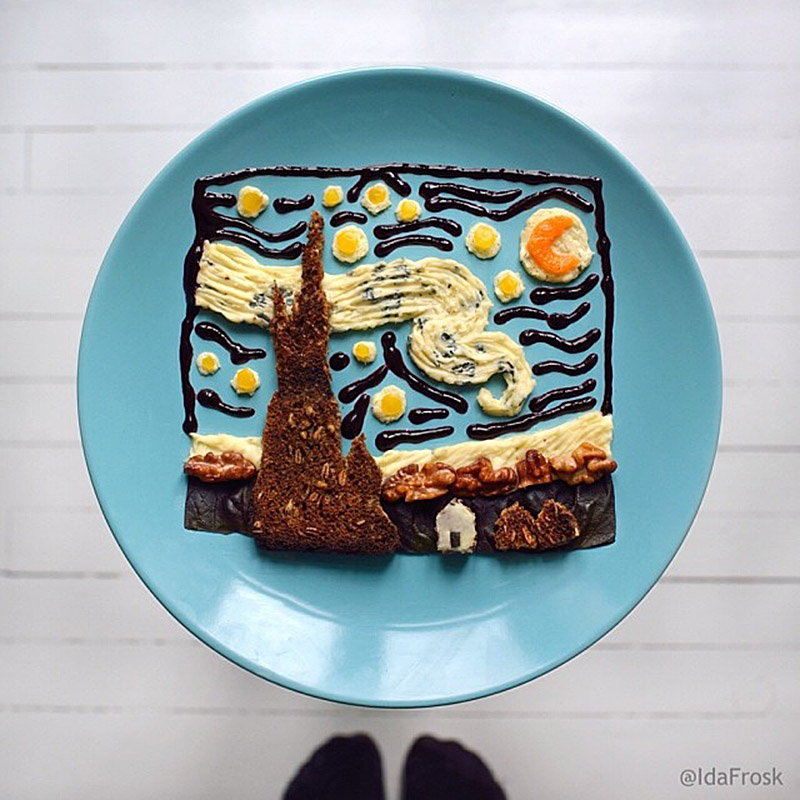The Art Toast Project _Starry Starry Night food Ida Frosk