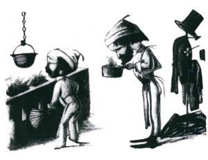 Верди на кухне карикатура Мельхиора Дельфико 500 х 385