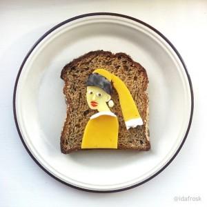 The Art Toast Project _Вермеер_Ida Skivenes
