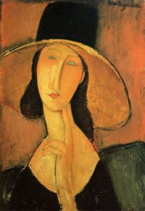 amedeo-modigliani-portrait-of-a-woman-with-hat