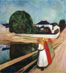 эдвард мунк_девушки на мосту_the-girls-on-the-bridge-1901