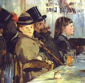 Эдуард Мане В кафе 1878  700 х 688