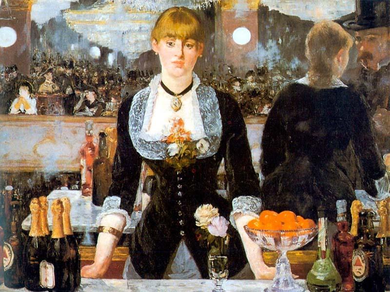 картина Эдуарда Мане_Бар в Фоли-Бержер. (1882) 800 х 600