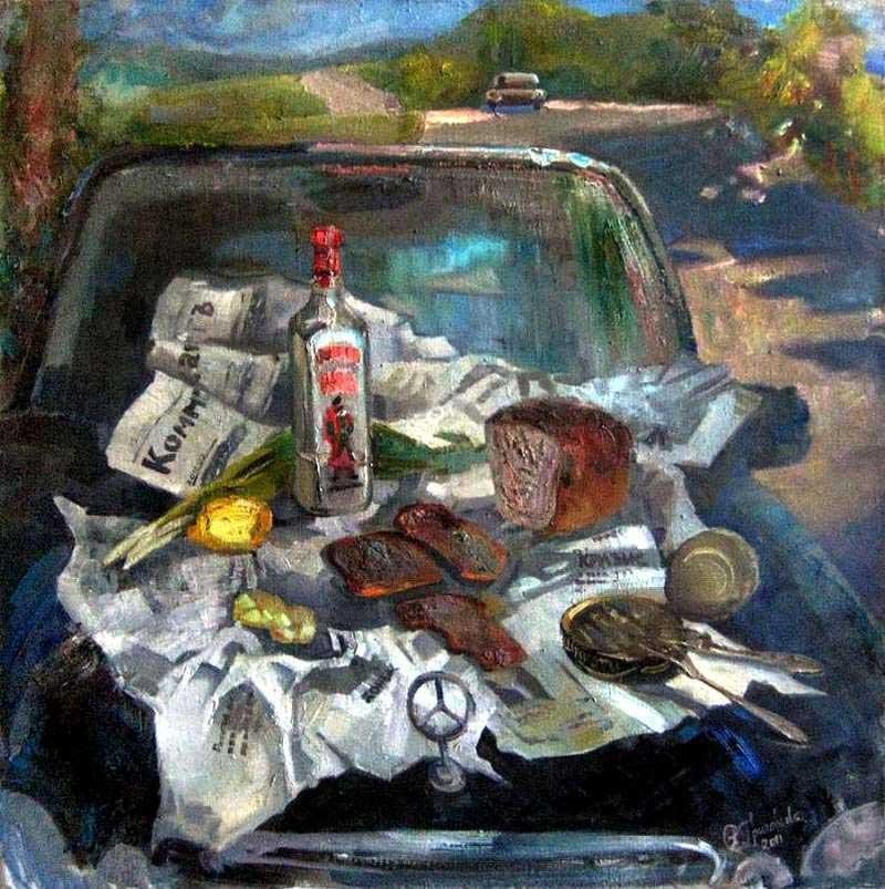 картина Пикник на обочине Анастасия Григорьева 800 х803