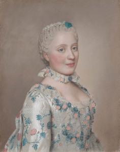 Портрет Марии-Жозефы Саксонской  630 х 800
