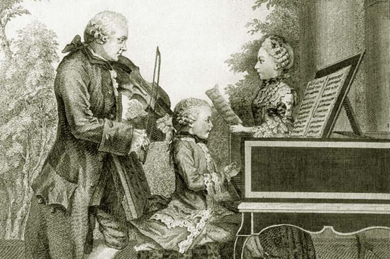 Семья Моцартов, 1764 800 х 531